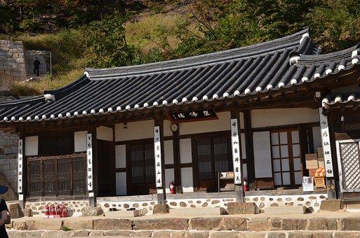 Hanok, Giwajip, Traditional, House, Architecture