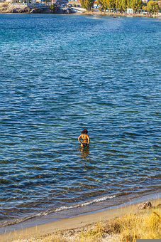 Woman, Bikini, Sea, Beach, Swim, Water, Summer
