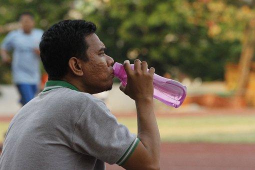 Man, Drinking, Water, Sport, Drink, Hydration, Bottle