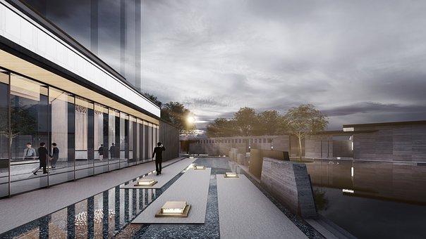Building, Architecture, 3d Rendering, Exterior