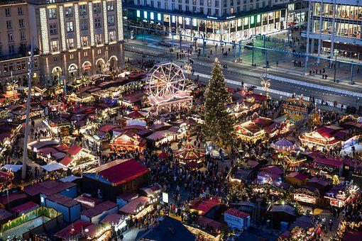 Dresden, Christmas Market, City, Lights