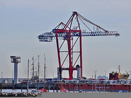 Container Crane, Transport, Destination Hamburg