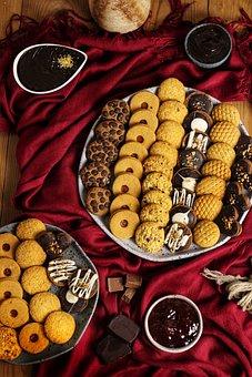 Butter Cookies, Cookies, Pastries, Desserts, Platter