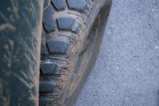 Wheel, Tires, Car, Vehicle, Mud, Rural, Farmer, Work