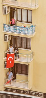 Building, Flag, People, Celebrations, Turkish Flag