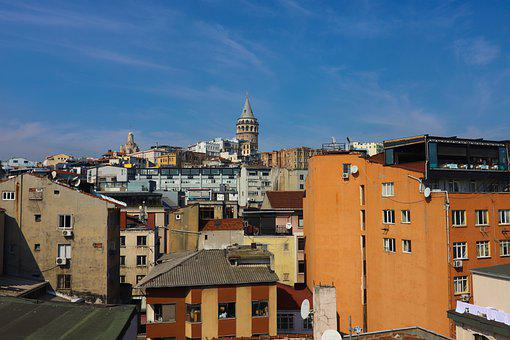 Galata, Galata Tower, Landscape, On, Architecture
