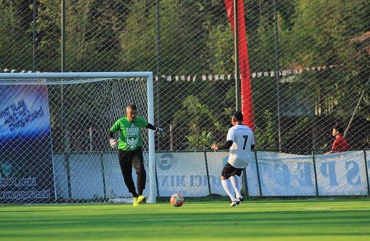 Goalkeeper, Soccer Player, Goal, Ball, Game, Team
