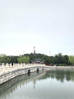 Winter Palace, Bridge, Architecture, Beihai Park, Lake