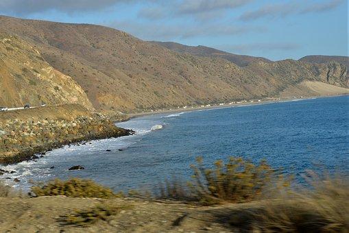 Mountain, Beach, Ocean, Nature, Water, Travel