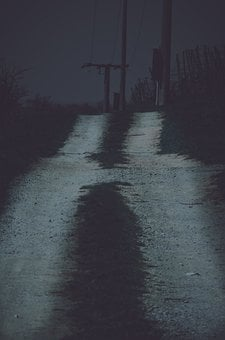 Path, Alley, Street, Road, Night, Nature, Hiking, Fear