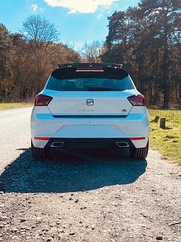 Seat Ibiza Fr, Car, Road, White Car, Auto, Small Car