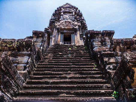 Angkor Wat, Temple, Ruins, Buddhism, Old, Architecture
