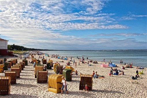 Beach, People, Sea, Ocean, Baltic Sea, Sellin, Rügen