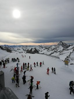 Snow Mountains, People, Ski Resort, Crowd, Tourists
