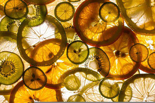 Oranges, Lemons, Kiwis, Cross Sections, Slices, Citrus