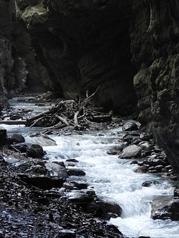 Gorge, Water, Rocks, Stones, Canyon, Stream, Brook