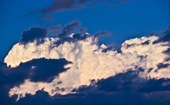 Sky, Clouds, Cumulus, Sunshine, Nature, Cloud