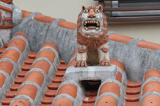 Shisa, Rooftop, Statue, Sculpture, Figure, Traditional