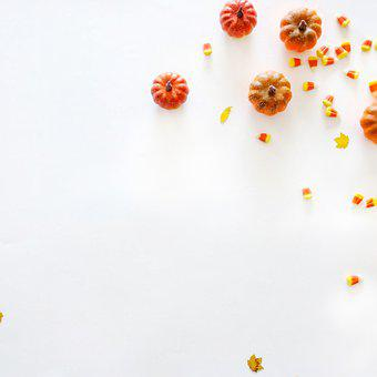 Candy, Pumpkins, Background, Vegetable, Food, Treat