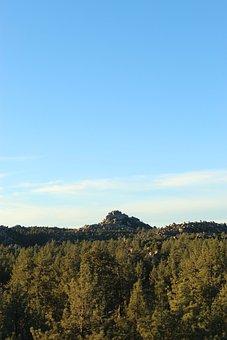 Mountain, Forest, Peak, Sky, Trees, Woods, Summit, Pine