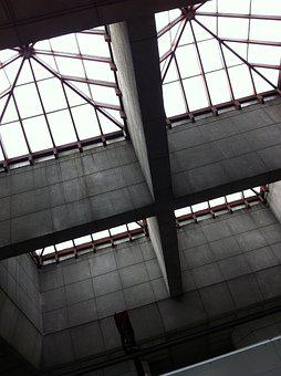 Concrete, Subway, Underground, Structure, Zenith, Sky