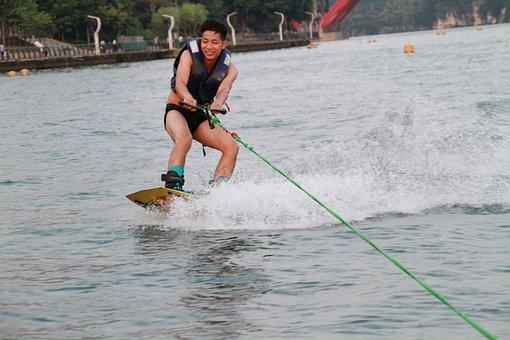 Man, Wakeboarding, Water, Water Sport, Wakeboarder