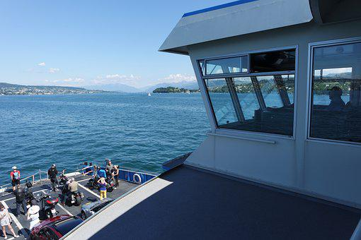 Zurich, Ferry Miles-horgen, Lake Zurich, Water