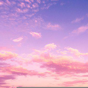 Clouds, Sky, Sunset, Cumulus, Afternoon, Background