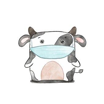 The Cow, Cartoon, Animals, Farm, Mammal, Nature