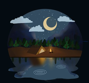 Tent, Camp, Night, Holiday