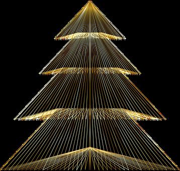 Christmas Tree, Tree, Christmas, Abstract, Geometric