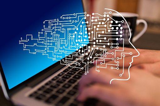 Circuits, Laptop, Board, Digitization, Hand, Write