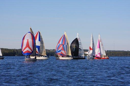 Sailing, Boating, Boat, Water, Sail, Sailboat, Sky