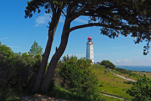 Lighthouse, Tower, Hill, Cliff, Coast