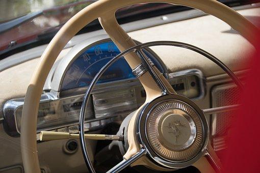 Oldtimer, Steering Wheel, Volga, Cockpit, Automotive
