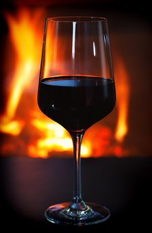 Red Wine, Alcohol, Glass, Drink, Wine, Alcoholic, Fire