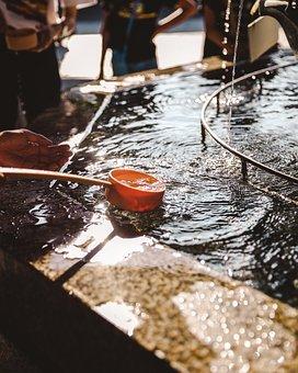 Fountain, Water, Drink, Wash, Culture, History, Buddha