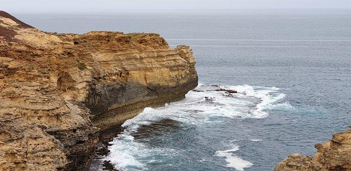 Cliff, Coast, Sea, Rock Formation