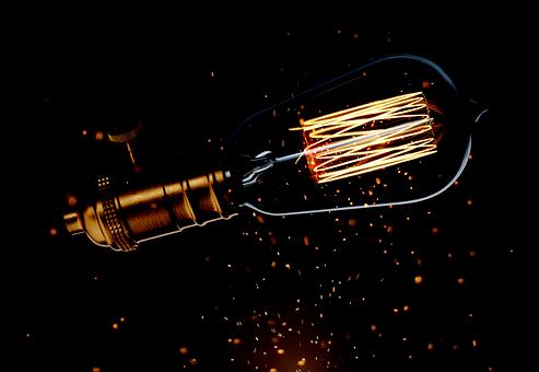 Light Bulb, Sparkle, Background, Lamp, Light, Idea