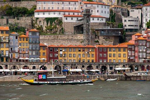 Boat, Port, City, River, Rabelo Boat, Porto, Transport