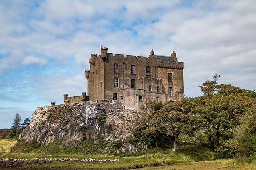 Castle, Fortress, Ruins, Landmark, Building, Dunvegan