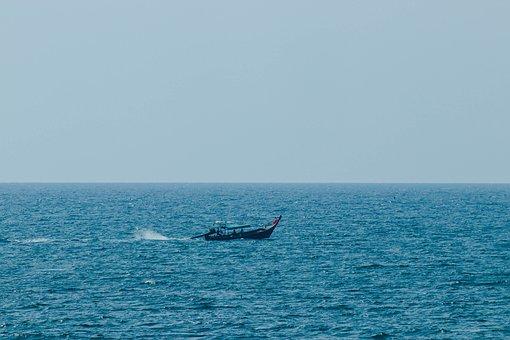 Boat, Fishing, Sea, Water, Ocean, Horizon, Travel