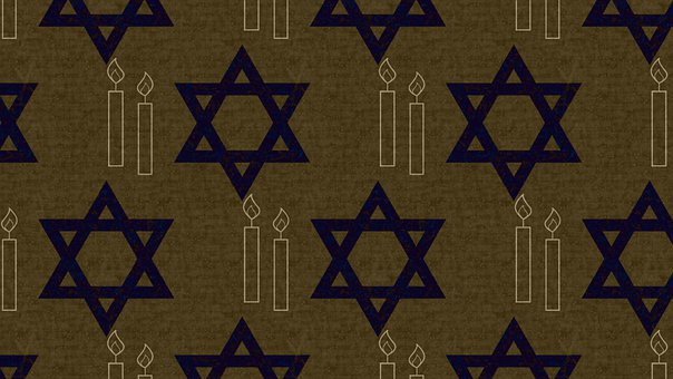 Star Of David, Shabbat Candles, Wallpaper, Pattern