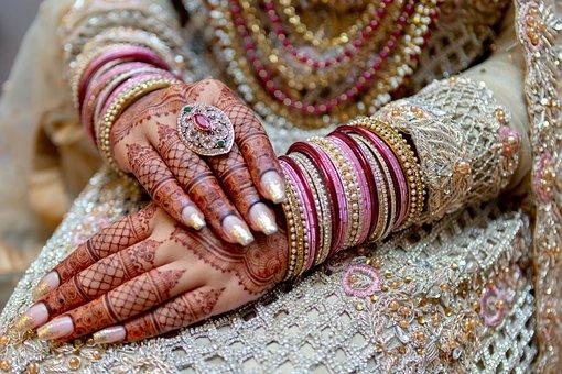 Woman, Bride, Henna, Mehndi, Tattoos