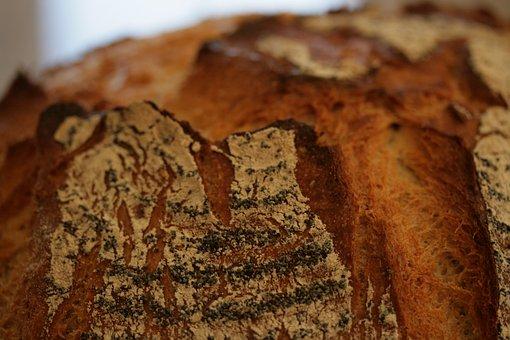 Texture, Bread Crust, Macro, Pastries