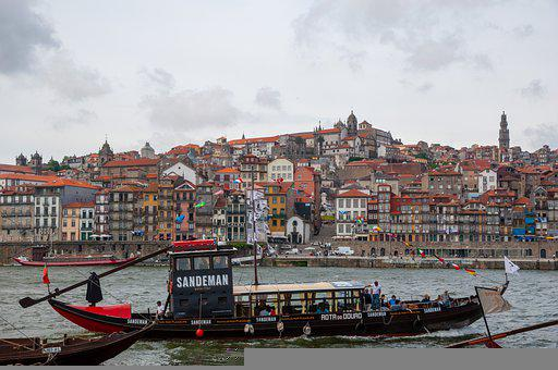 Boat, River, City, Porto, Rabelo Boat, Transport