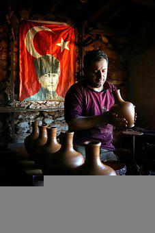 Pot, Potter, Craft, Ceramic, Hands, Creativity, Bowl
