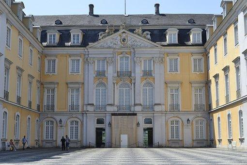 Building, Castle, Baroque, Facade, Brühl, Augustusburg