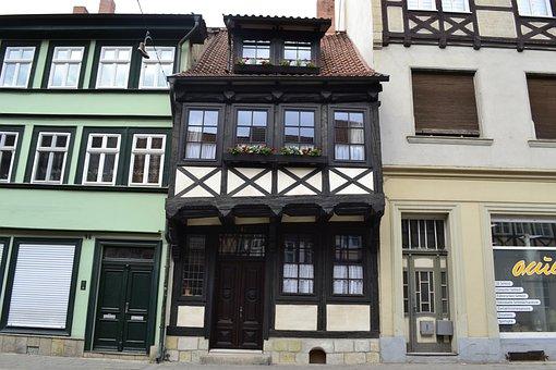 Quedlinburg, Truss, Resin, Architecture, Building