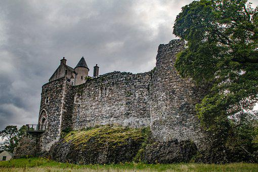 Castle, Fortress, Ruins, Middle Ages, Highlands